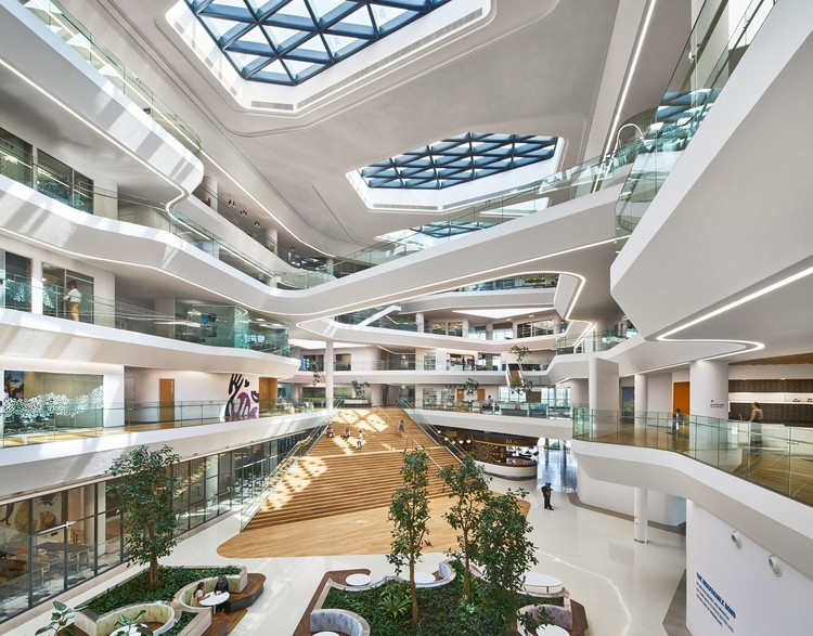 Unilever headquarters aedas archdaily for House interior design jakarta
