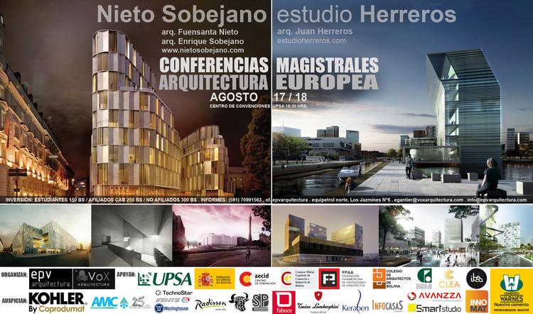 Juan Herreros + Nieto Sobejano: conferencias magistrales de arquitectura europea en Bolivia