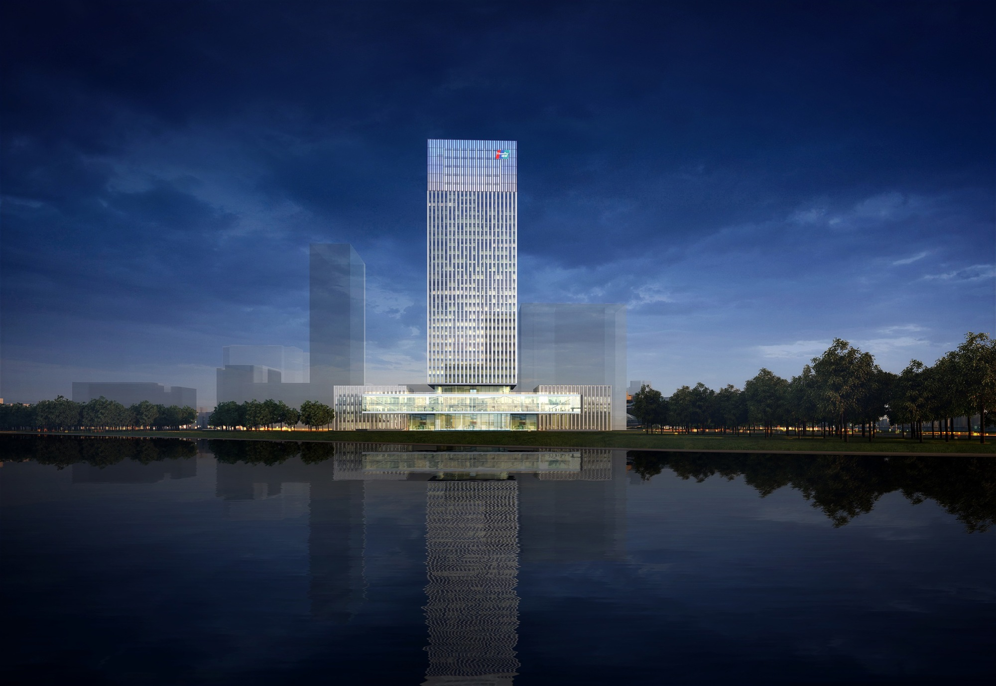 Gmp Architekten Designs Glass Tower Headquarters For China UnionPay In  Shanghai , View From Huangpu River