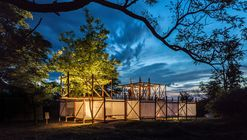 Students Construct 7 Inhabitation Structures at Hello Wood's 2017 Project Village