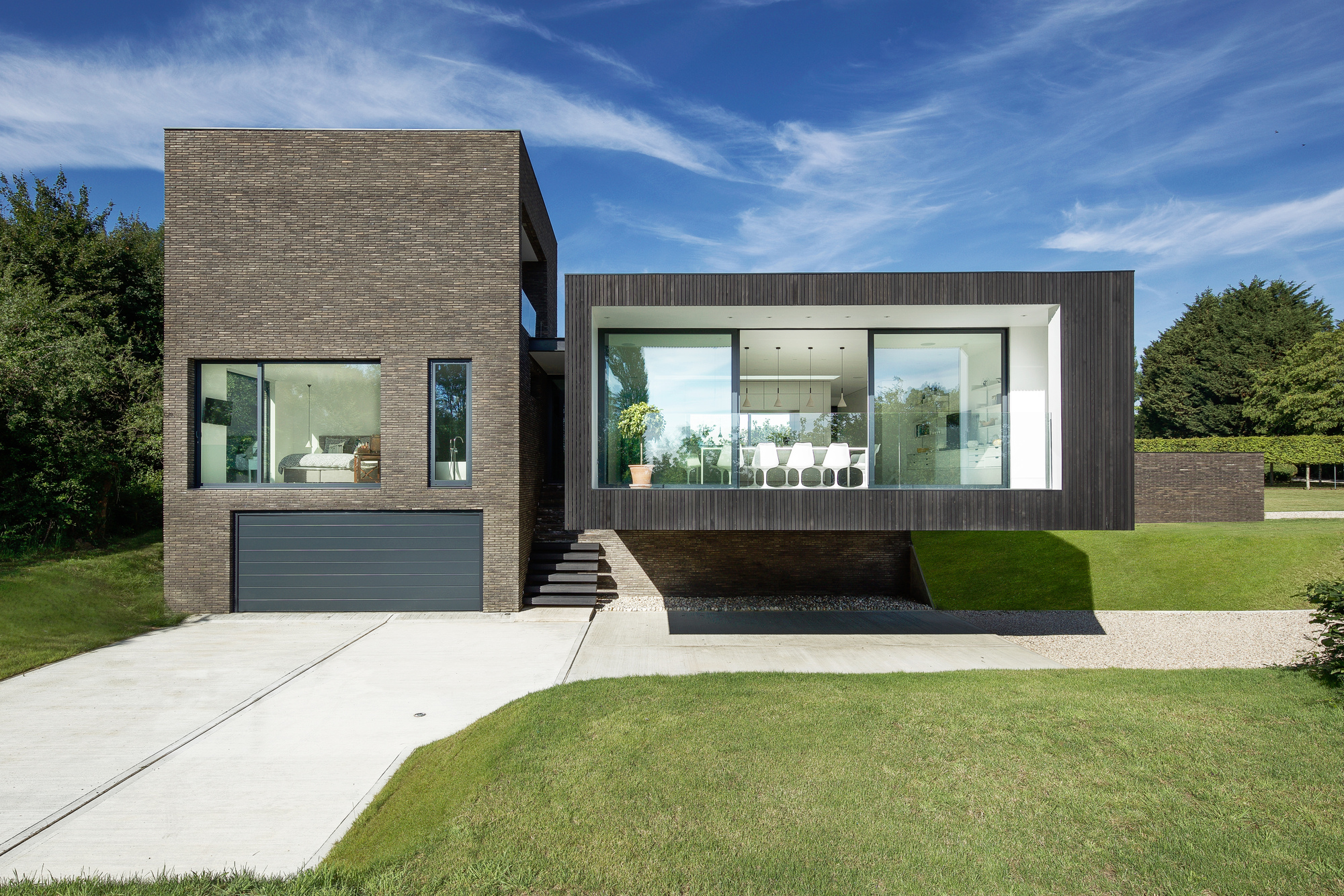 Galeria de casa preta ar design studio 3 for Interlocking brick house plans