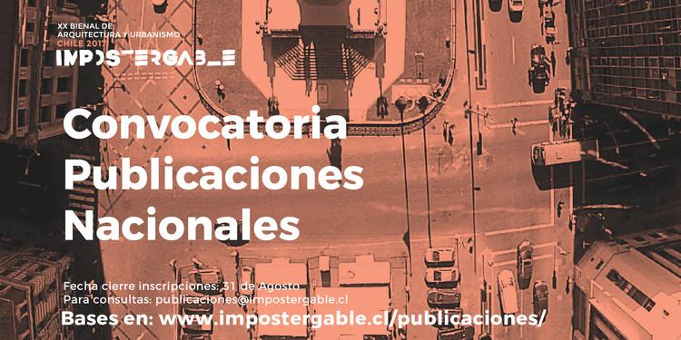 Convocatoria Muestra de Publicaciones Chilenas en la XX Bienal de Arquitectura 2017