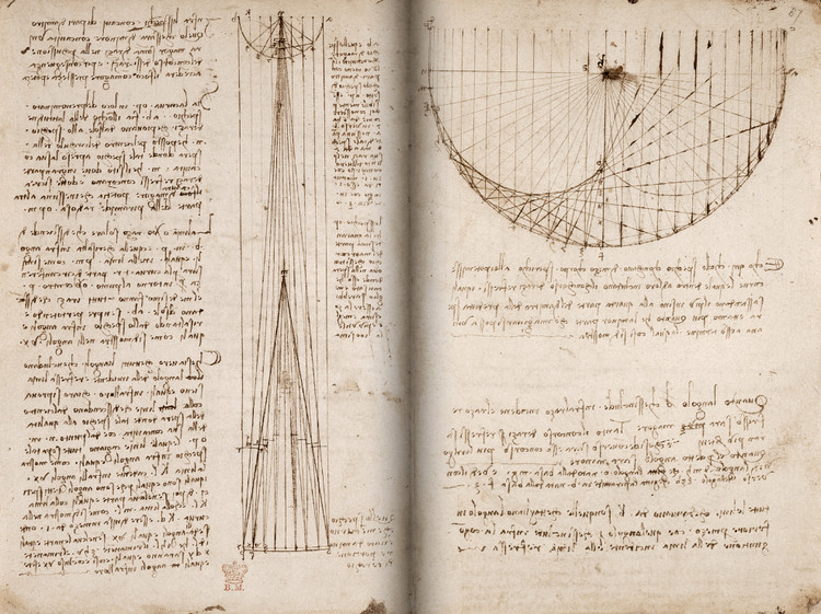 The British Library Releases 570 Pages of Leonardo da Vinci's Manuscripts Online, via British Library.
