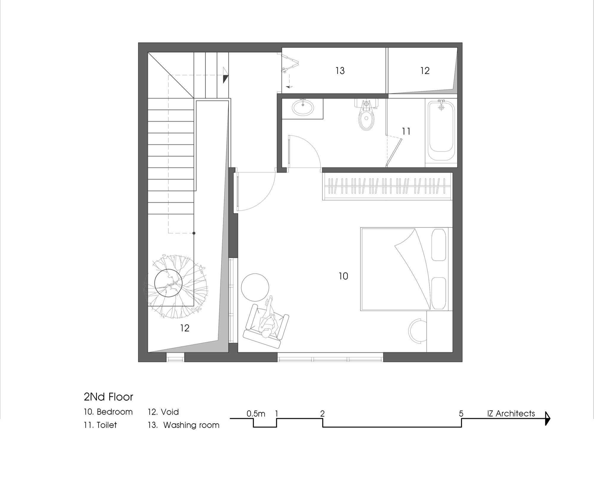 Gallery of 7x7 house iz architects 27 for Floor plan com