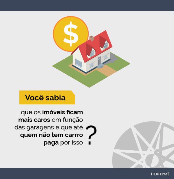 Vagas de estacionamento custam caro para quem não tem carro, Cortesia de ITDP Brasil