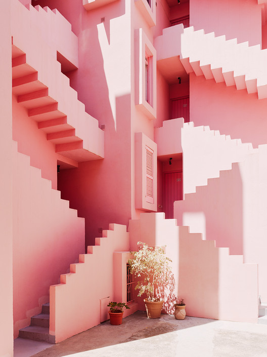 Ricardo Bofill's Red Wall Through The Lens of Gregori Civera, © Gregori Civera