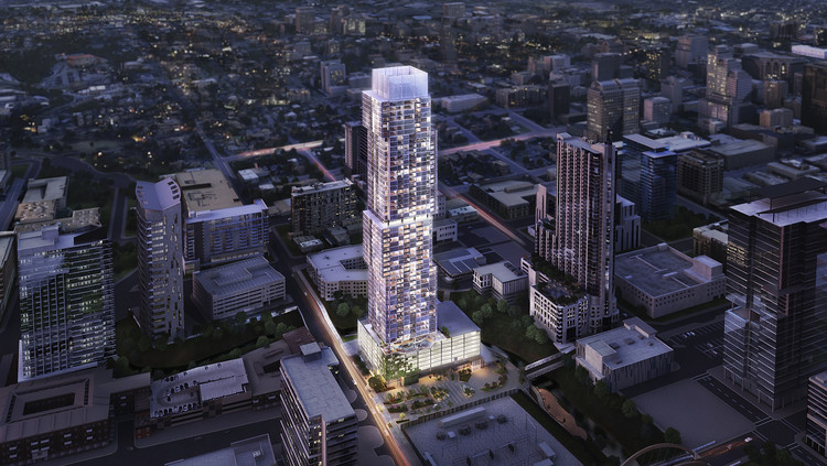 Upcoming 685-Foot Tiered Residential Tower To Extend Austin's Skyline, Courtesy of The Independent