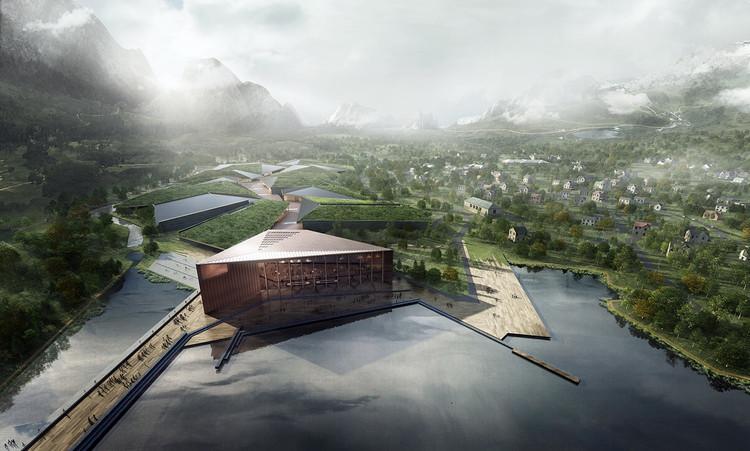 Noruega divulga o projeto do maior e mais seguro centro de dados do mundo, Centro de Dados Kolos. Imagem © HDR