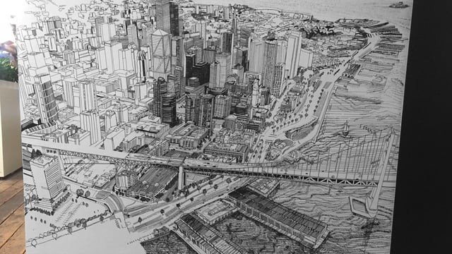 Patrick Vale Draws Stunning Panoramic View of San Francisco in New Mural