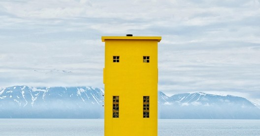Lighthouse in Húsavík, Iceland. Image <a href='https://www.reddit.com/r/AccidentalWesAnderson/comments/6lg9c1/i_took_this_picture_of_a_lighthouse_in_h%C3%BAsav%C3%ADk/'>via Reddit user Milonade</a>