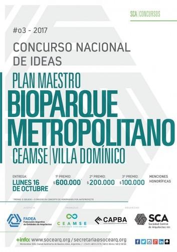 Concurso Nacional de Ideas Plan Maestro Bioparque Metropolitano CEAMSE / Argentina, Cortesía de Sociedad Central de Arquitectos
