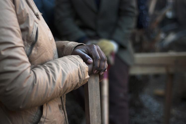 Así avanza la construcción del pabellón para la comunidad haitiana en Chile, © SimpleLab