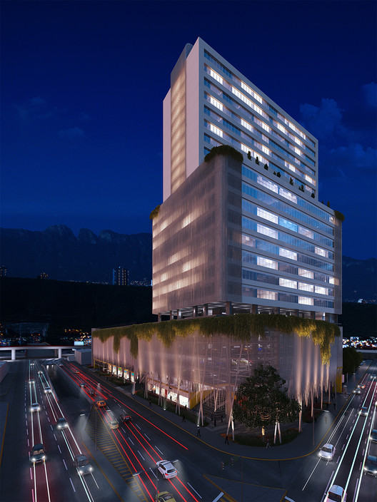 25-Story, Trellised, Mixed Use Development to Improve Pedestrian Access in Downtown Monterrey, Courtesy of Miró Rivera Architects and Ibarra Aragón Arquitectura