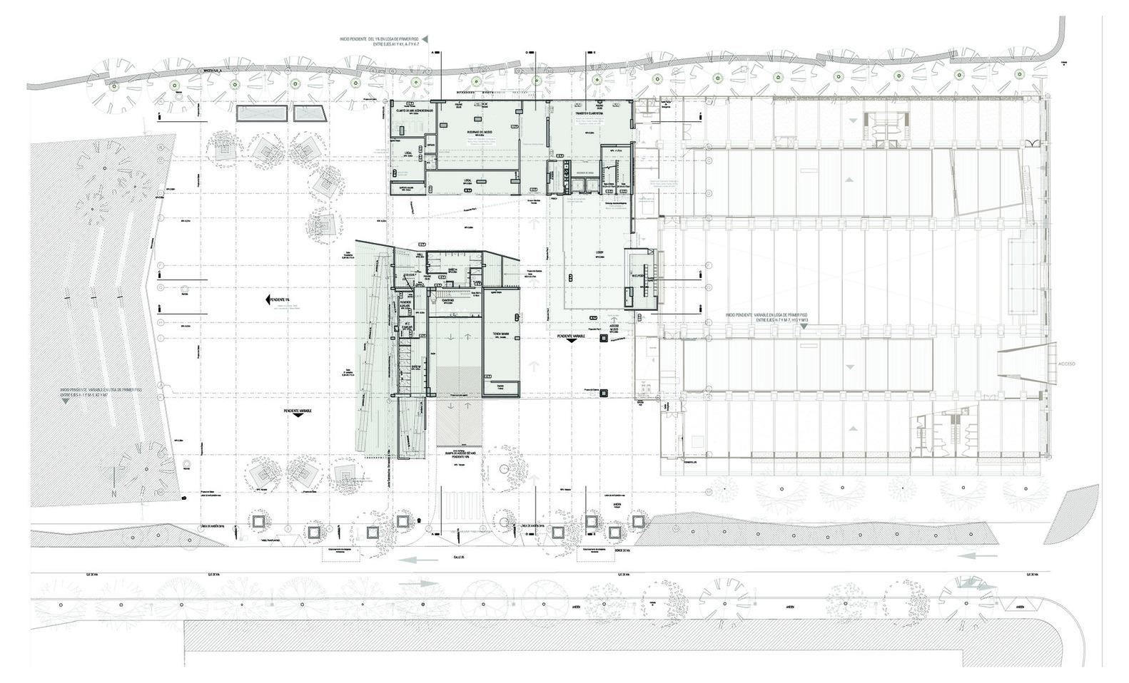 Modern art museum of medellín extension ctrl g 51 1 site plan
