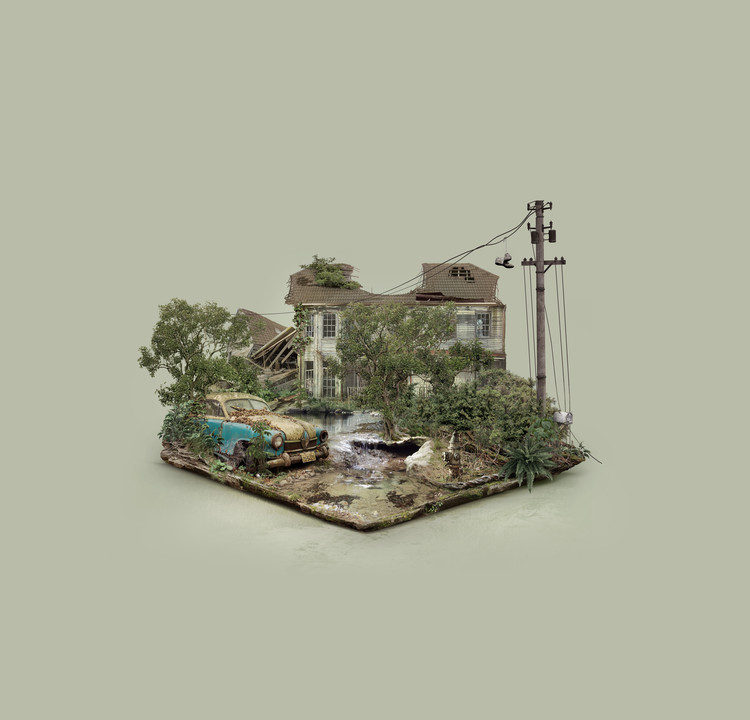 Explore These Digitally-Created Abandoned Islands by Brazilian Designer Fabio Araujo, Abandoned House. Image © Fabio Araujo