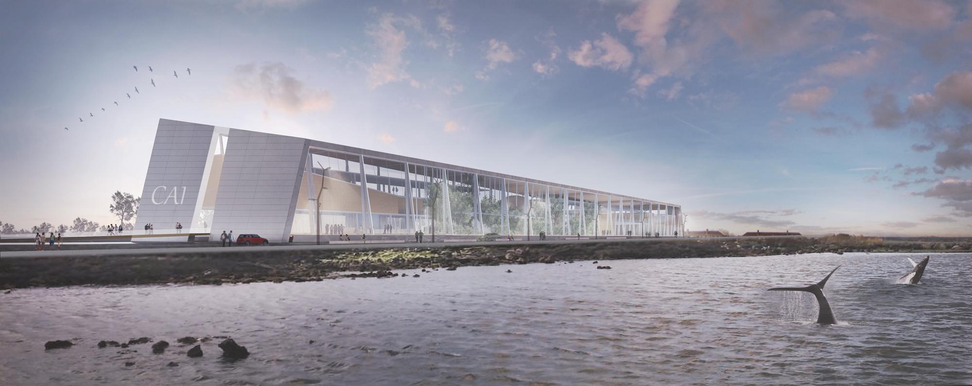 Tercer lugar del concurso del centro ant rtico - Que es un porche en arquitectura ...