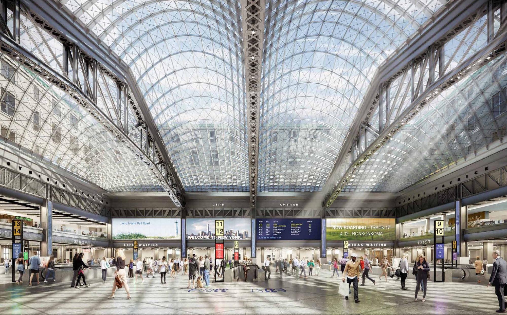 Ferry Terminal Floor Plan Gallery Of Construction Begins On Penn Station S Moynihan