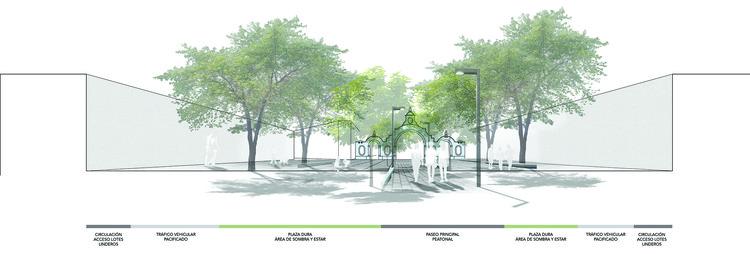 Segundo lugar Concurso 'Alameda Clodoaldo' en Jauja, Perú / La Alameda Parque, Sección El Punto de Transición, Plaza de la Libertad . Image Cortesía de Alameda Parque