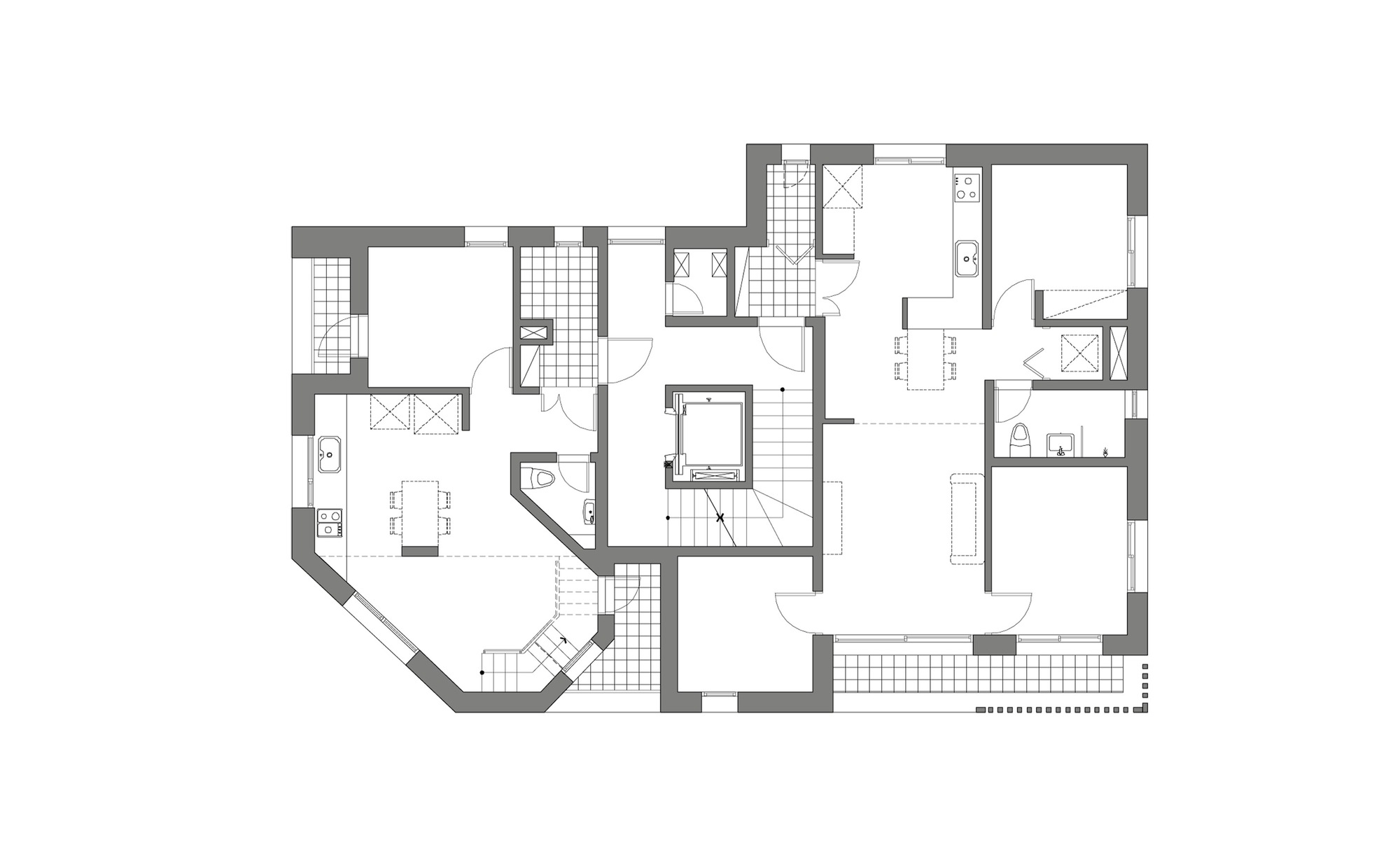 100 house plans multi family opulent design ideas open floor plans with basement multi - Multi unit house plans family friends ...