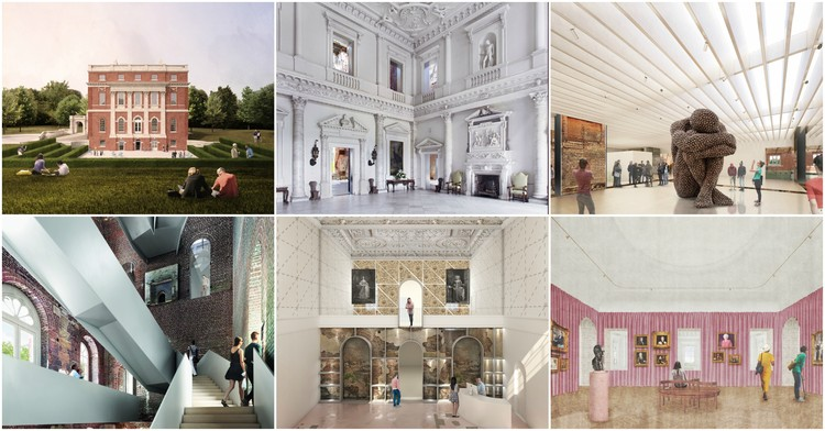 AL_A, DS+R, Selldorf Among 6 Teams Shortlisted for Renovation of 18th Century Palladian House in Surrey