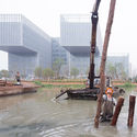 IN NINGBO, TWO VAST CONSTRUCTION SITES HIGHLIGHT THE SPECTACULAR SCALE OF HIGH-END CONSTRUCTION IN CHINA