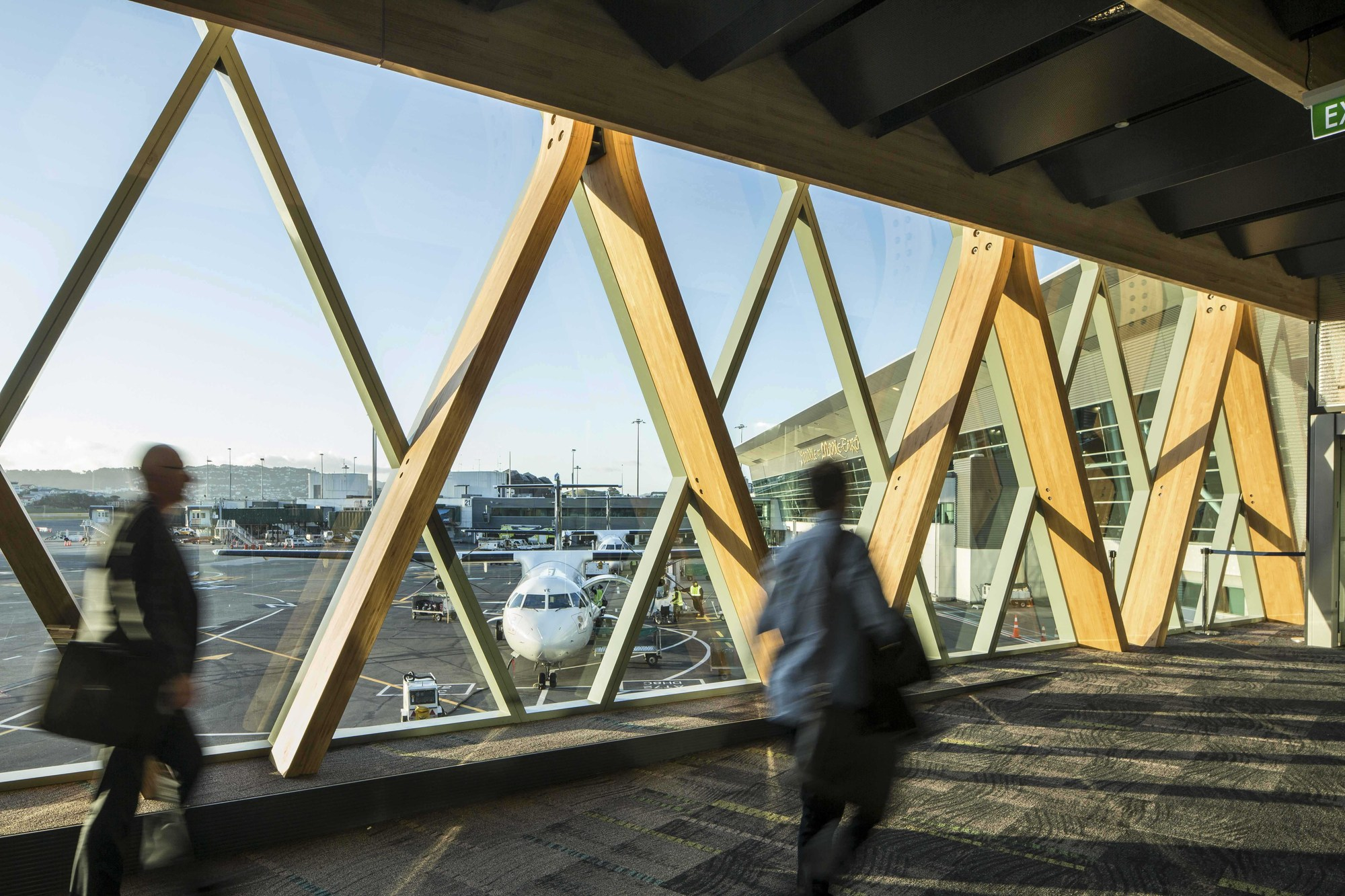 This Large Structural Frame Is Made From Laminated Wood