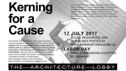 Kerning for a Cause 2017
