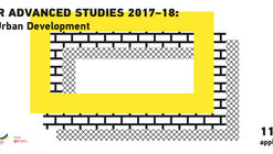 Call for Advanced Studies in Integrated Urban Development (ASIUD)