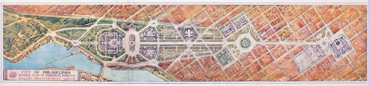 2018 Better Philadelphia Challenge: The Next Parkway, Design for Philadelphia's iconic Benjamin Franklin Parkway by Paul Crét and Jacques Gréber, 1917