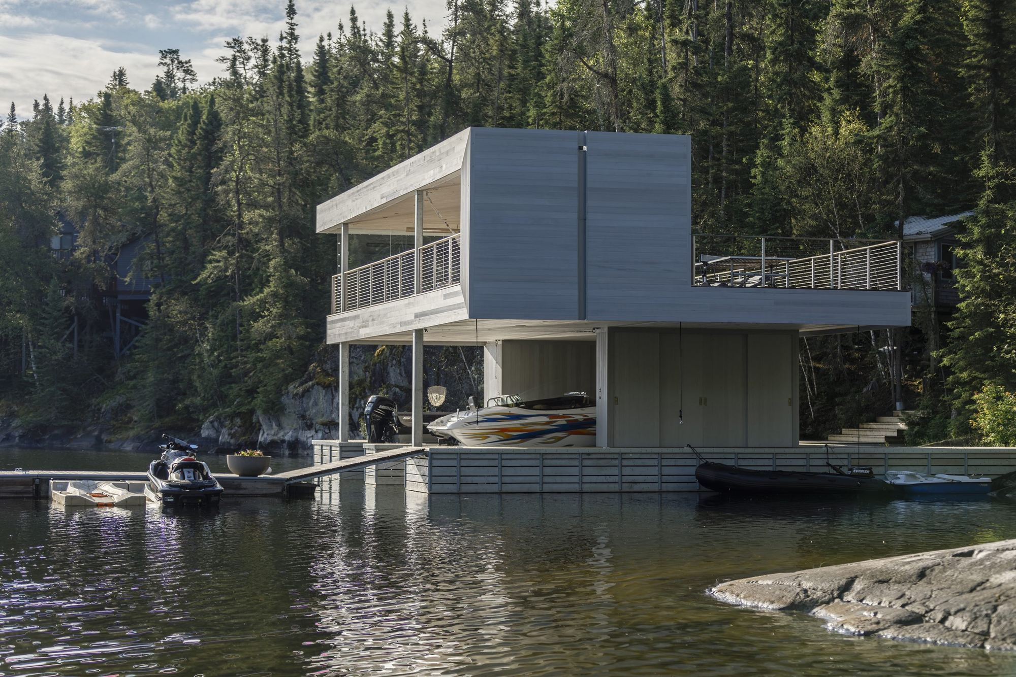 Boat House Architectural Detail : Gallery of boathouse cibinel architecture