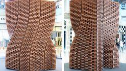 Pavilhão é construído com 2.000 tijolos únicos impressos tridimensionalmente