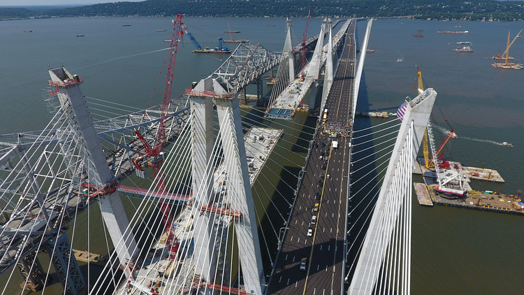 New York's $4 Billion Tappan Zee Bridge Project Set to Open to the Public, The bridge today (Aug 24). Image Courtesy of New York Governor's Office