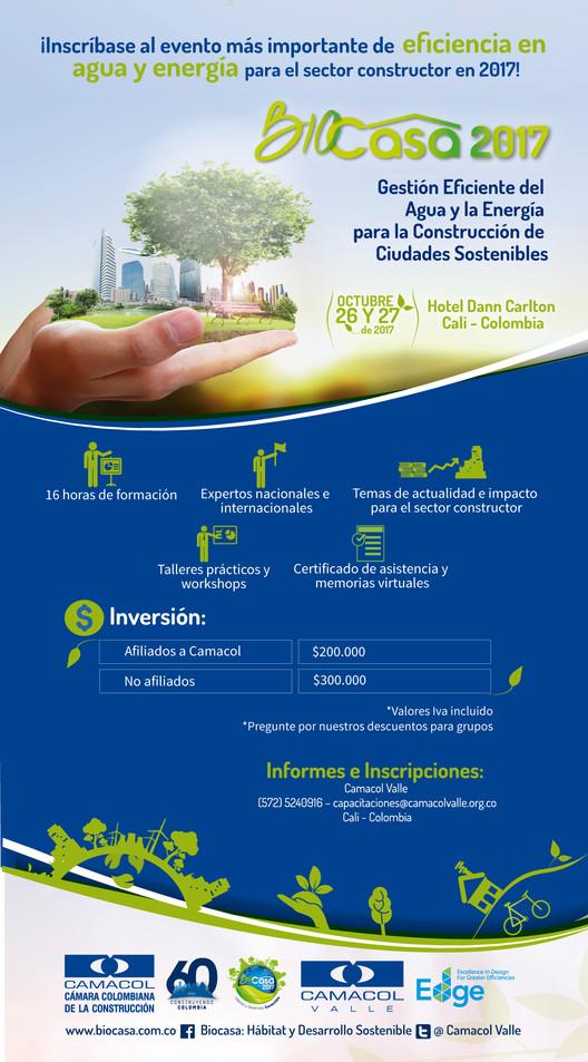 Foro Internacional BIOCASA 2017: Gestión Eficiente de la Energía y el Agua para la Construcción de Ciudades Sostenibles, Camacol Valle