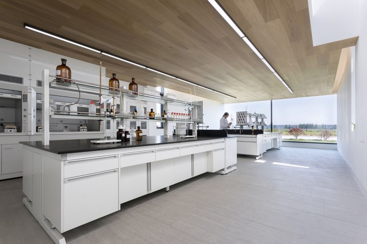 Lab. Image © Louis Y.S Liu & Laboratory for Shihlien Biotech Salt Plant / WZWX Architecture Group ...