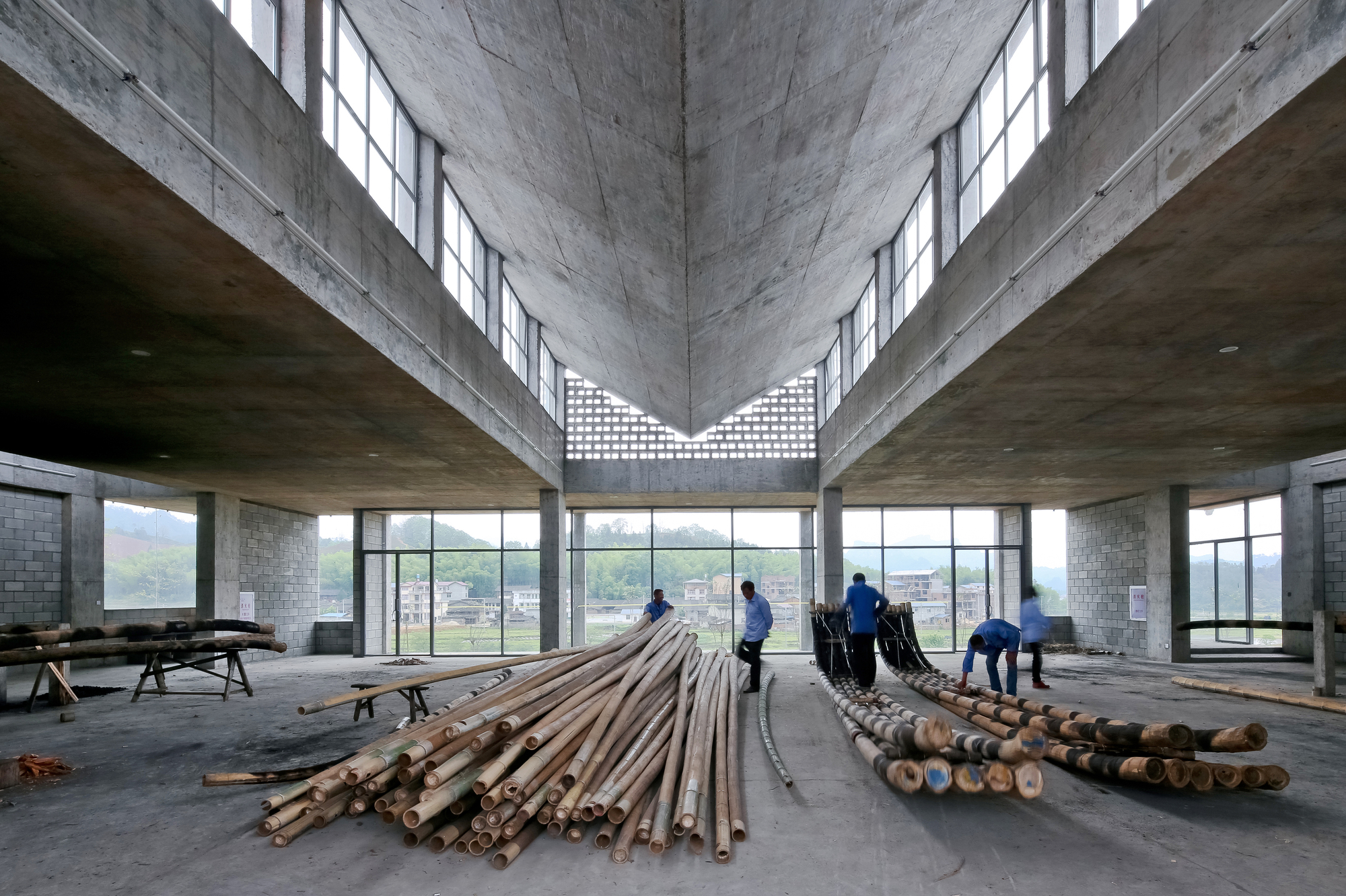 Wuyishan Bamboo Raft Factory Tao Trace Architecture