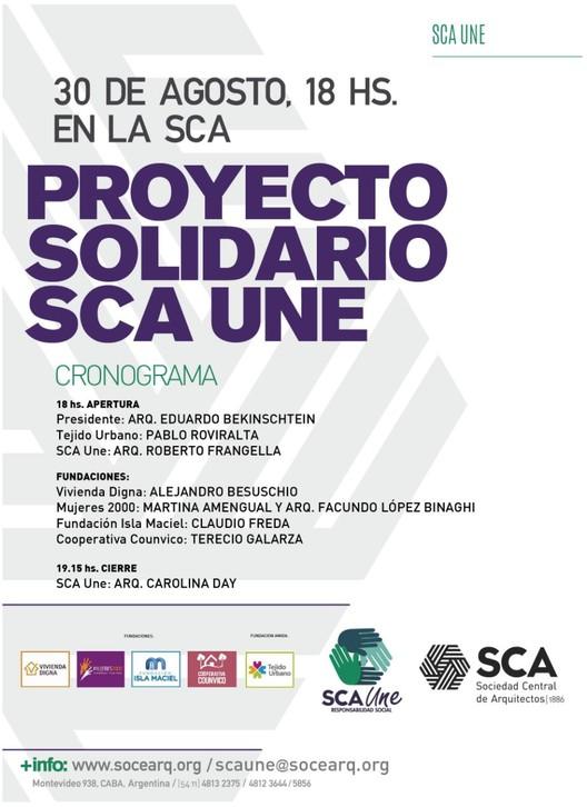 Presentación de proyecto solidario SCA UNE