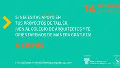 Correcciones de taller en el Colegio de Arquitectos de Chile