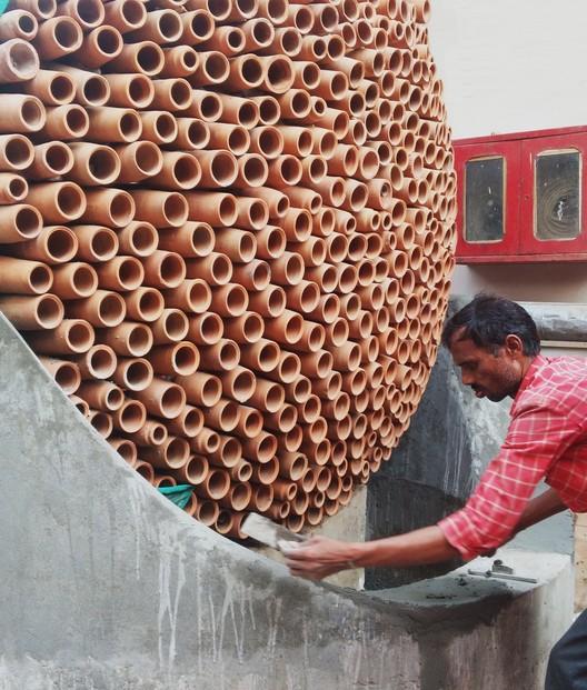 Cones de argila funcionam como um ar condicionado sem energia elétrica, © S. Anirudh