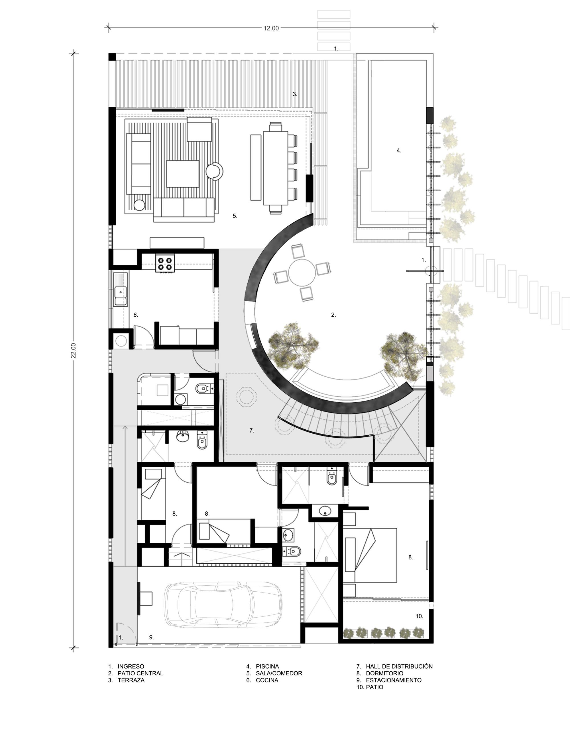 Galer a de casa ronda marina vella arquitectura for Dibujo de una oficina moderna