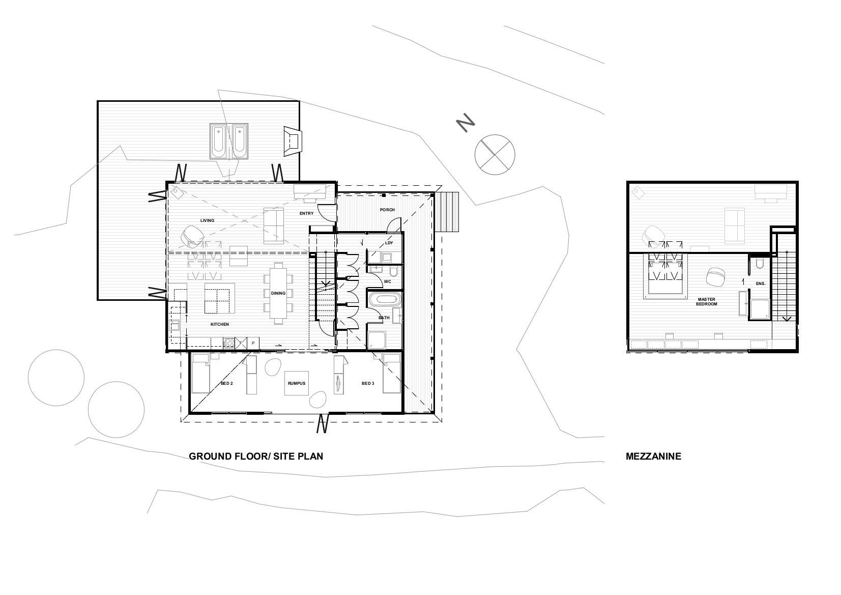 Gallery of back country house ltd architectural design for Mezzanine plan