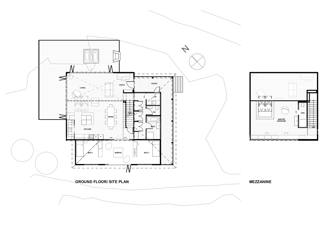 Mezzanine Plans gallery of back country house / ltd architectural design studio - 27