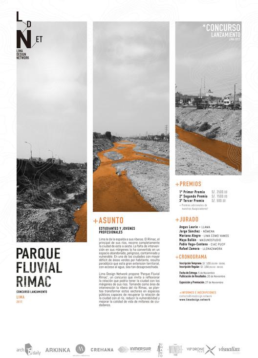 Concurso de Ideas para el Parque Fluvial Rímac: Explorando la relación entre la ciudad de Lima y los márgenes de sus ríos, Cortesía de Lima Design Network