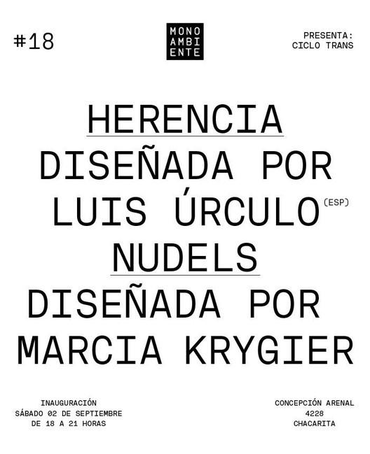 Galería Monoambiente presenta Muestra #18: Herencia & Nudels, Cortesía de Galería Monoambiente