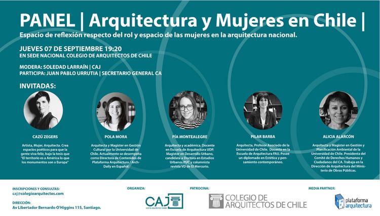 Panel: Arquitectura y Mujeres en Chile, CAJ Colegio de Arquitectos