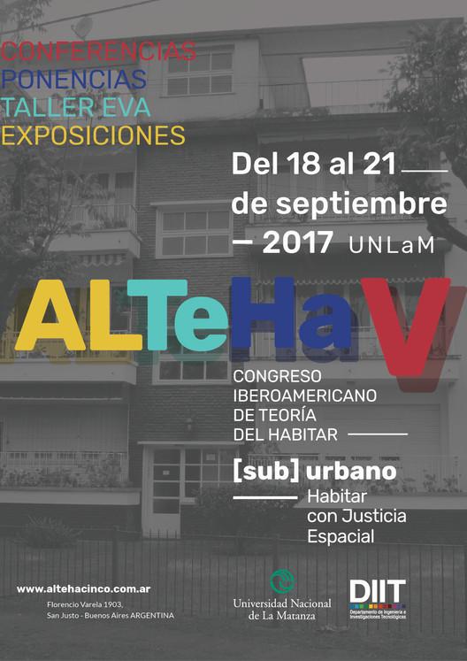 V Congreso Latinoamericano de Teoría del Habitar. ALTeHa V San Justo, Afiche ALTeHa. DG Mariana Gigliotti
