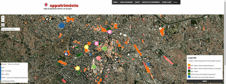 Mapa interativo do Patrimônio Histórico de São Paulo