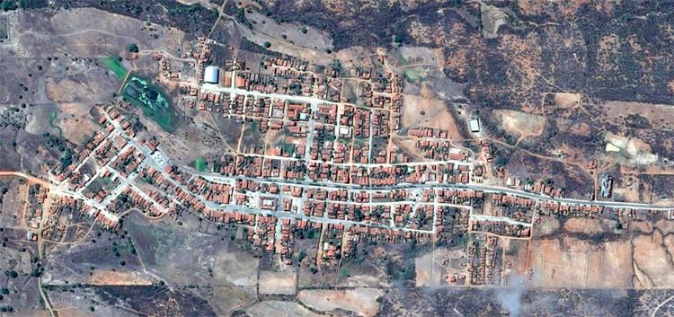 Uma em cada cinco cidades brasileiras encolheu nos últimos 16 anos, Severiano Melo, Rio Grande do Norte, a cidade que mais encolheu entre 2001 e 2017. Image via Google Maps