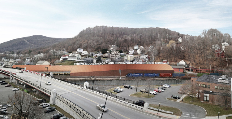 Gehry Partners Tapped to Replace Gluckman Tang for North Adams' Extreme Model Railroad Museum, Gluckman Tang's original concept for the museum. Image © Gluckman Tang