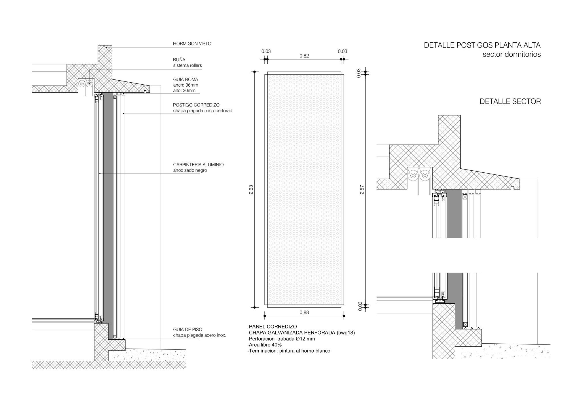 Gallery of adrogue chico i house jorgelina tortorici 33 - Detalle carpinteria aluminio ...