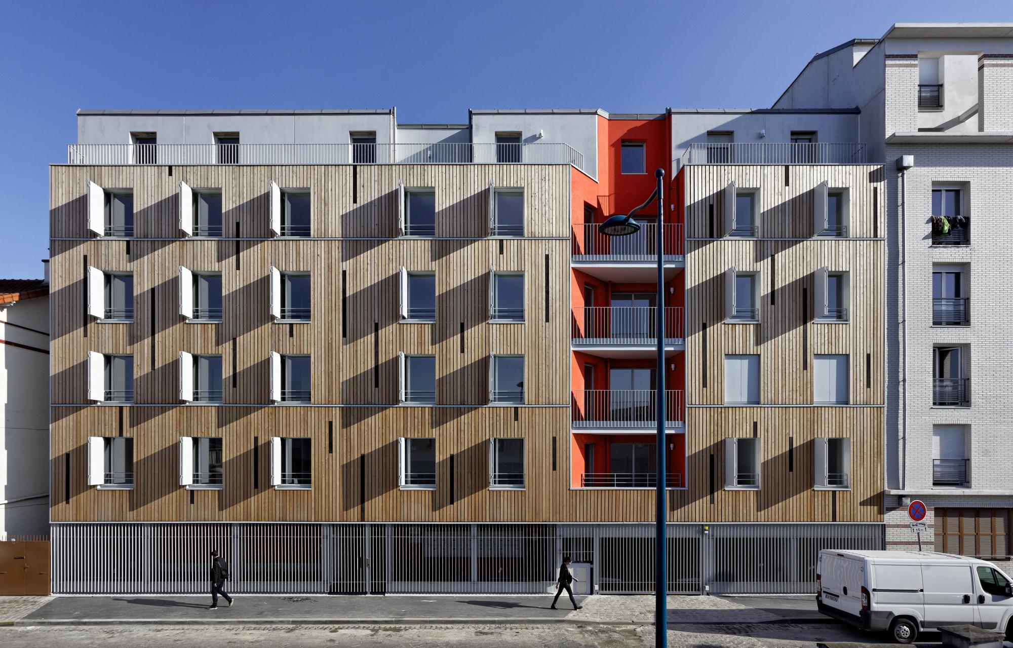 Apartment Building in Pantin Benjamin Fleury